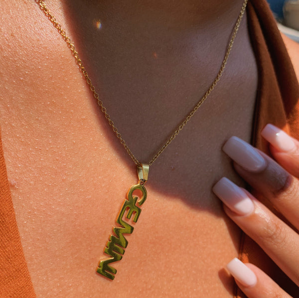 Sign Me Up Zodiac 18k Gold Plated Necklace