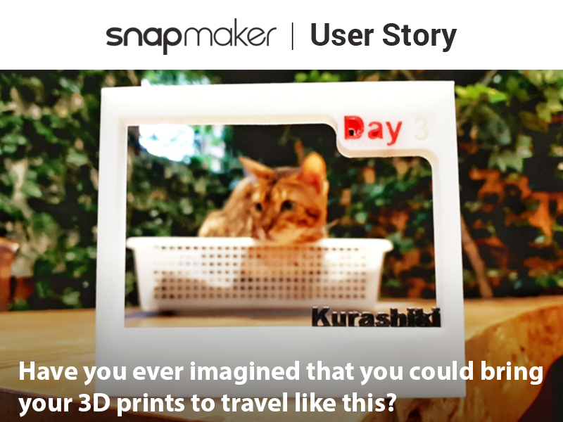 Have you ever imagined that you could bring your 3D prints to travel like this?