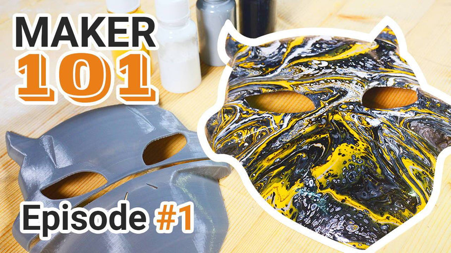 Maker 101 | Let's DIY a special mask with fluid painting!