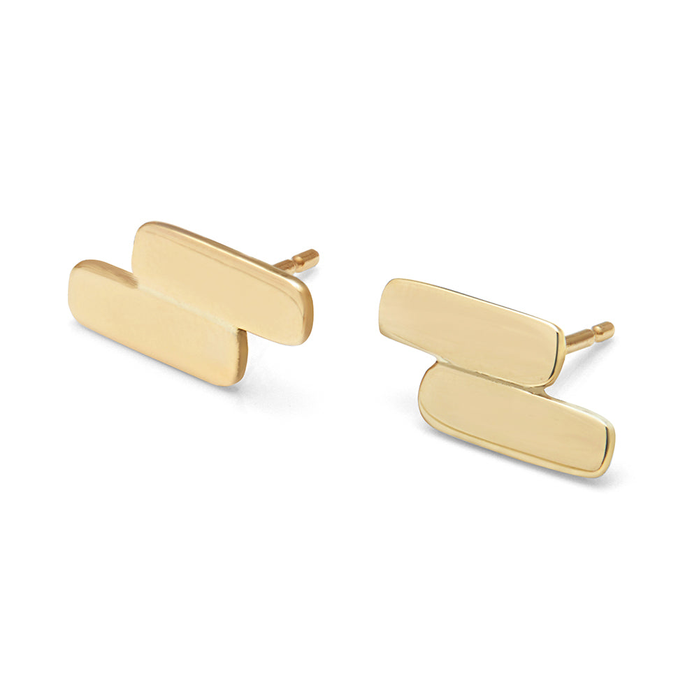 DUAL BAR STUD EARRINGS