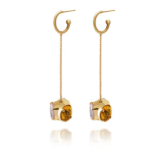 Medium Spinning stone earrings – LONG