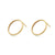 CIRCLE HOOP STUD EARRINGS