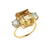 Citrine & Diamond Trilogy Ring
