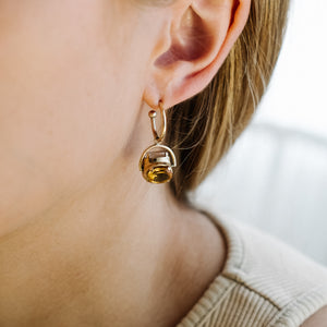 BESPOKE MEDIUM SPINNING STONE EARRINGS