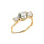 Green Amethyst and Diamond Trilogy Ring