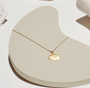 """I LOVE YOU"" SPINNING DISC NECKLACE"