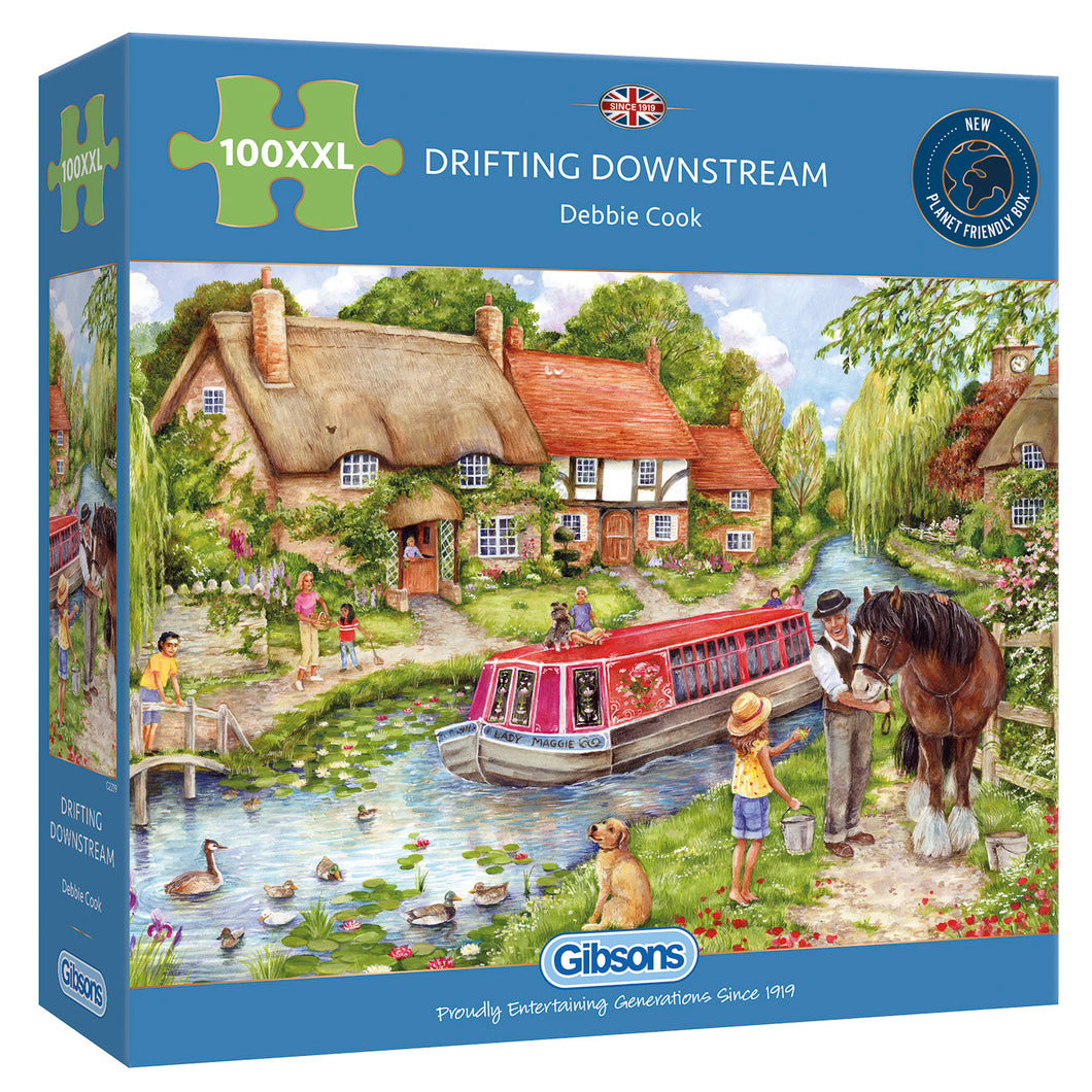 Drifting downstream 100XXL Gibsons Jigsaw Puzzle