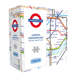 TFL London Underground Map Gift Box  500pc Gibsons Jigsaw Puzzle
