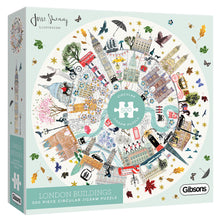 Load image into Gallery viewer, London Buildings Circular 500pc Gibsons Jigsaw Puzzle