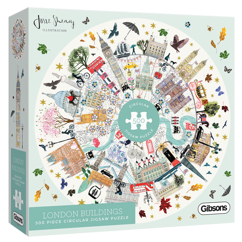 London Buildings Circular 500pc Gibsons Jigsaw Puzzle