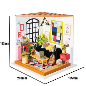 """Locus's Sitting Room"" DIY Miniature Room"