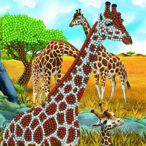 """Gentle Giraffes"" Crystal Art Card Kit"