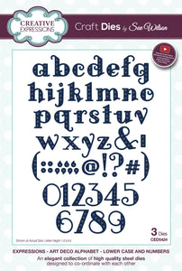 Art Deco Alphabet - Lower Case and Numbers