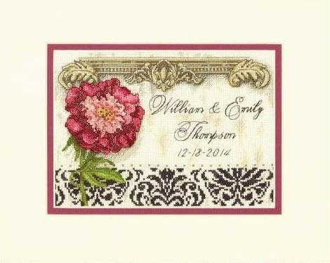 'Elegant Wedding Record' Counted Cross Stitch Kit by Dimensions