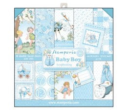 Stamperia Baby Boy Scrapbooking Papers 12x12
