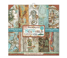 Load image into Gallery viewer, Stamperia Mechanical Seaworld Scrapbooking Papers 12x12