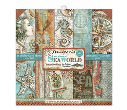 Stamperia Mechanical Seaworld Scrapbooking Papers 12x12