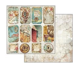 Stamperia Time Is An Illusion Scrapbooking Papers 12x12