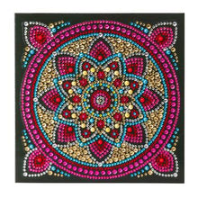 "Load image into Gallery viewer, ""Mandala"" Crystal Art Card Kit"