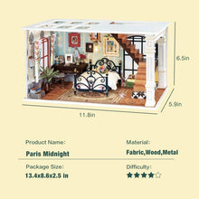 "Load image into Gallery viewer, ""Paris Midnight"" DIY Miniature Room"