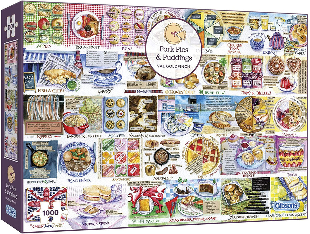 Pork Pies & Puddings 1000pc Jigsaw Puzzle Gibsons