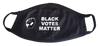BLACK VOTES MATTER face mask with 2 replacement filters
