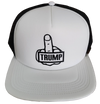 F**k Trump White/Black Trucker Snap Back Cap