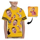 Custom Face Chicken Kid's All Over Print T-shirt