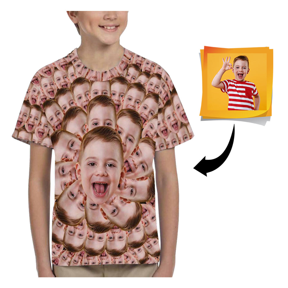 Custom Face Kid's All Over Print T-shirt