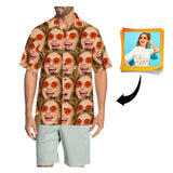 Custom Face Seamless Men's All Over Print Hawaiian Shirt