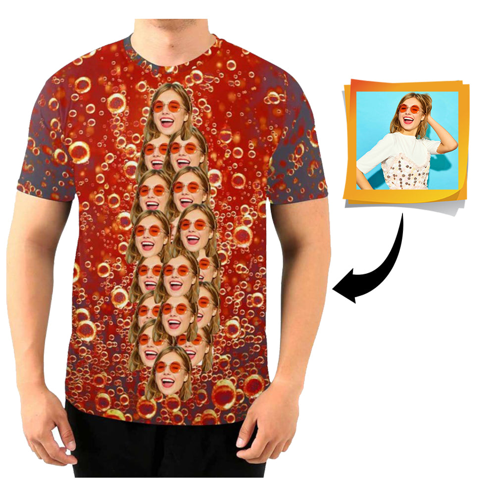 Custom Face Cola Men's All Over Print T-shirt
