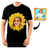 Custom Face Sunflower Men's All Over Print T-shirt