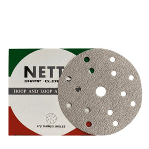 Netto 150mm Sanding Disc 15H 100/Box P500