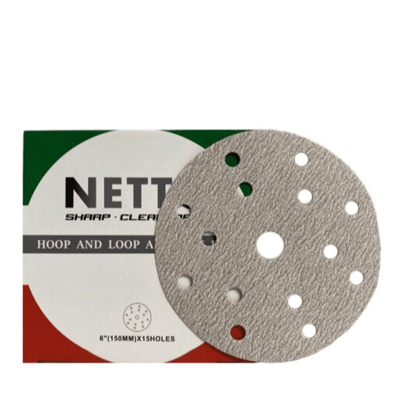 Netto 150mm Sanding Disc 15H 100/Box P180