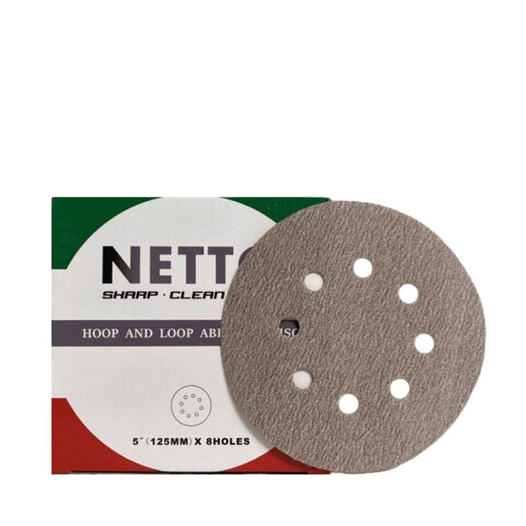 Netto 125mm Sanding Disc 8H 100/Box P80