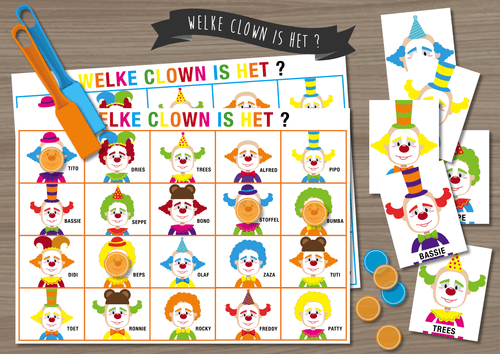 Welke Clown is Het? - Juf Surya Designs