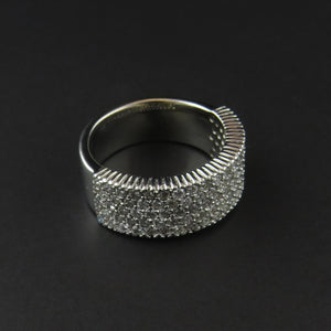 Five Row Diamond Set Ring
