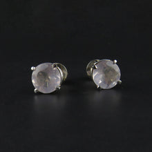 Load image into Gallery viewer, Rose Quartz Stud Earrings
