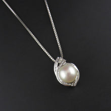 Load image into Gallery viewer, Pearl and Diamond Pendant