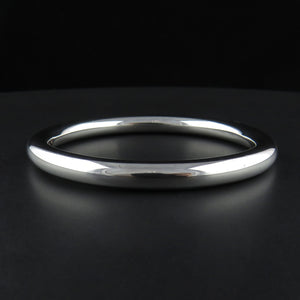 Solid Round Sterling Silver Bangle