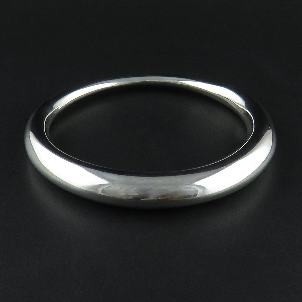 Thick and Thin Sterling Silver Bangle