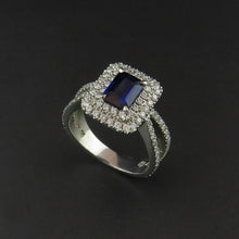 Load image into Gallery viewer, Sapphire and Diamond Dress Ring