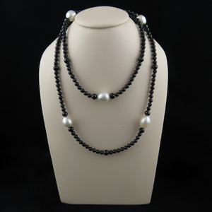 South Sea Pearl and Spinel Beaded Long Necklace