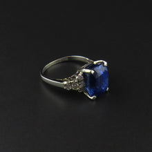 Load image into Gallery viewer, Blue Sapphire and Diamond Ring