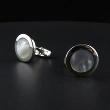 Load image into Gallery viewer, Round Mother Of Pearl Cufflinks