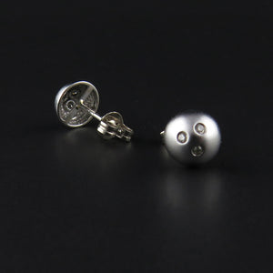 Round, Multi Diamond Stud Earrings