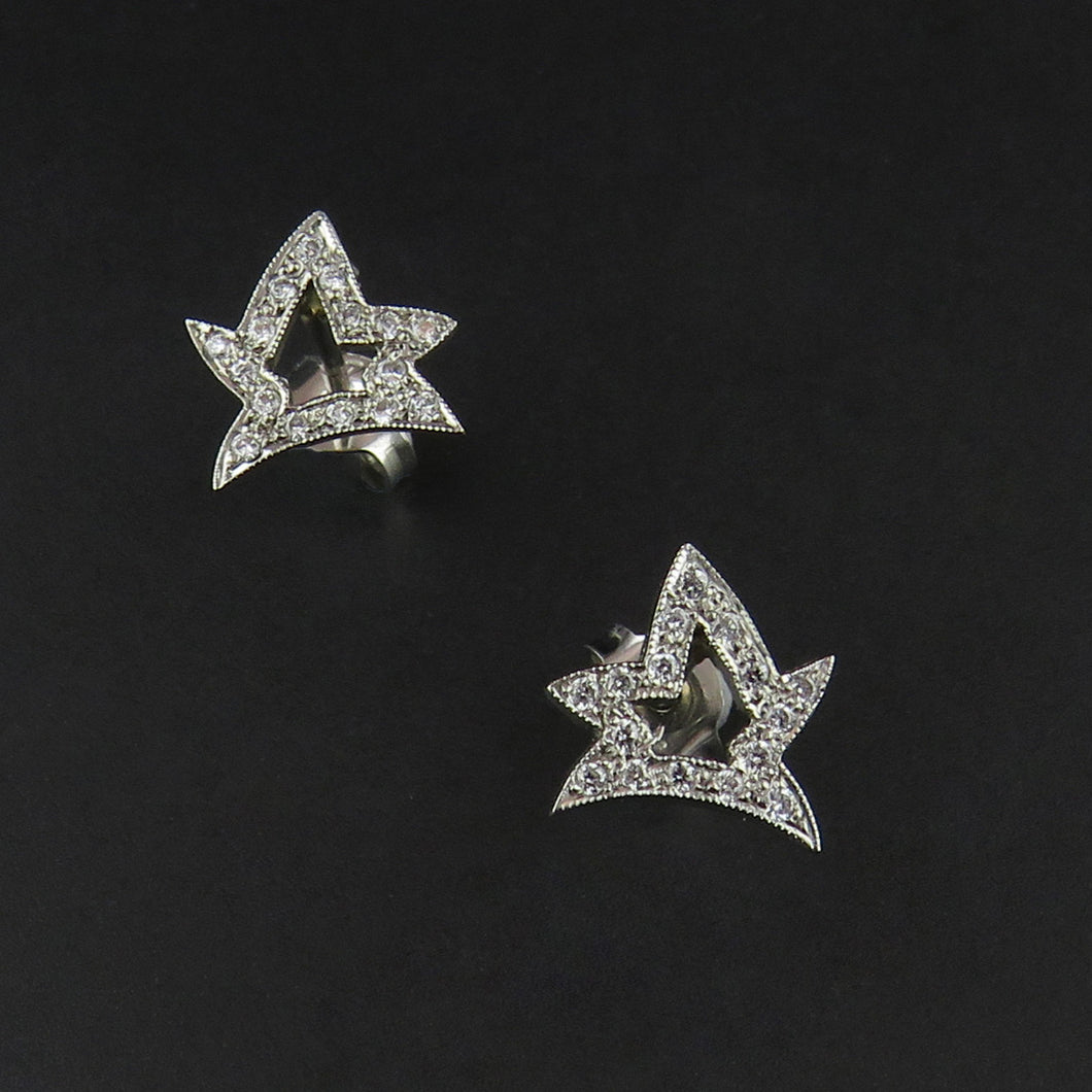 Fancy Star Diamond Studs