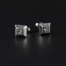 Load image into Gallery viewer, Princess Cut Diamond Studs