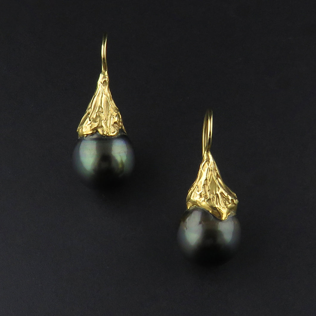 Tahitian Drop Pearl Earrings