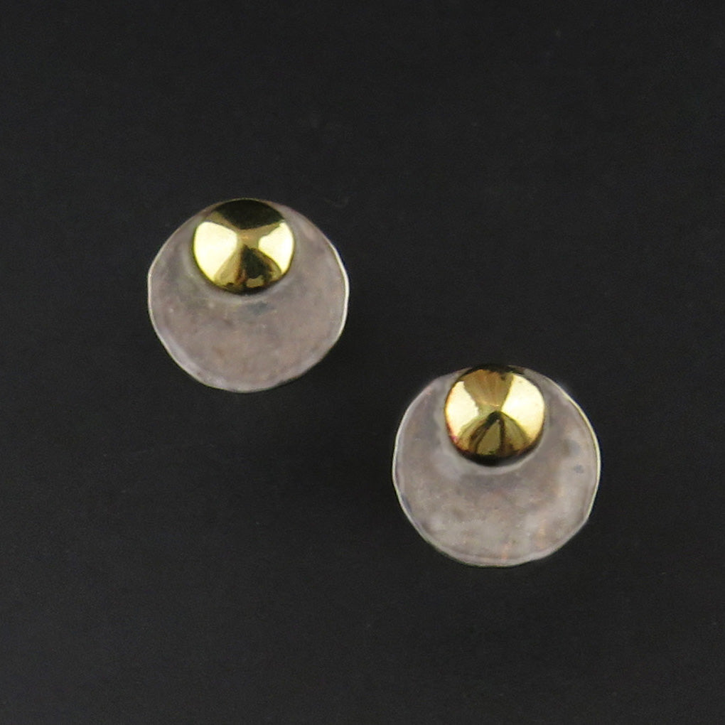 Hammered Round Earrings